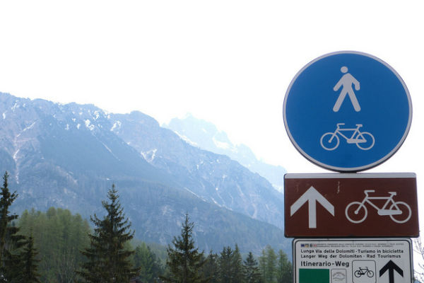 dolomites cycle tourism