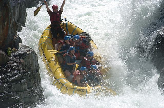 Rafting rapide
